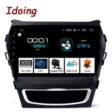 "Idoing 9 ""Auto DSP Android Radio Vedio Multimedia Player 4G + 64G Octa Core Für Hyundai Santa fe 3 Grand 2013 2017 KEINE 2 DIN DVD"