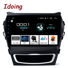 "Idoing 9 ""araba DSP Android radyo video multimedya oynatıcı 4G + 64G Octa Core için Hyundai Santa fe 3 Grand 2013 2017 NO 2 DIN DVD"