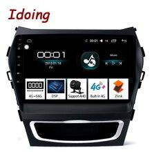 """Idoing 9 """"dsp android ラジオ vedio マルチメディアプレーヤー 4 グラム + 64 グラムオクタコア現代サンタ fe 3 グランド 2013 2017 なし 2 din dvd"""