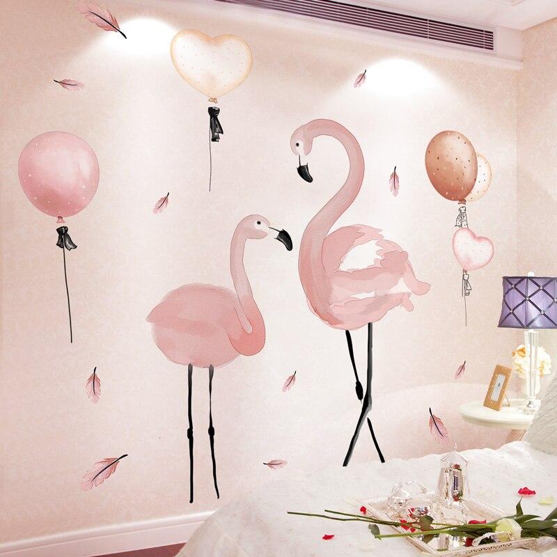 Cute DIY Wall Sticker Children/'s Bedroom Nursery Room Wall Décor,Flamingo