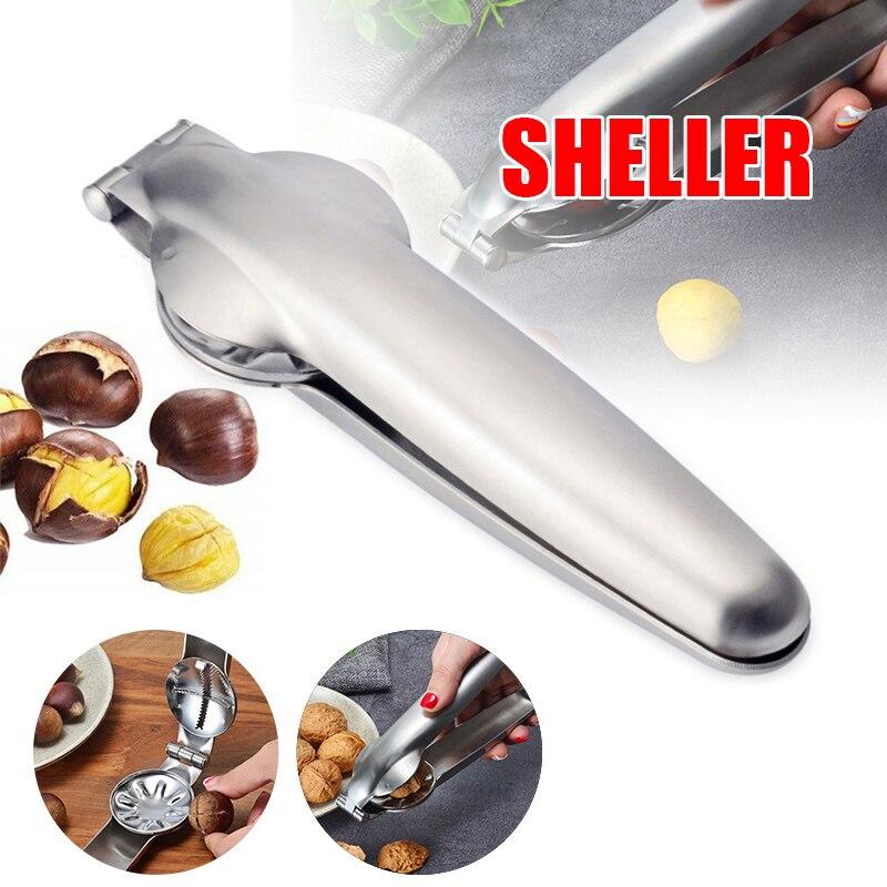 HOT Chestnut Clip Nut Cracker Walnut Pliers Metal Nut Opener Plier Stainless Steel Kitchen Tools NDS66