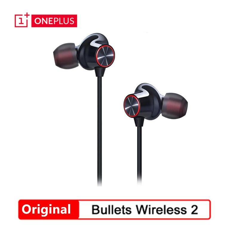 Original oneplus balas sem fio 2 fones de ouvido apt híbrido controle magnético carga rápida oneplus balas sem fio 2