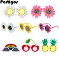 Смешные очки для вечеринки, очки для дня рождения, тропические модные платья, забавные летние реквизиты для фотостудии