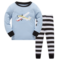 Новинка года; брендовая Пижама для маленьких мальчиков; одежда для сна с рисунком самолета; модная детская пижама с длинными рукавами из хлопка с изображением Бэтмена для мальчиков