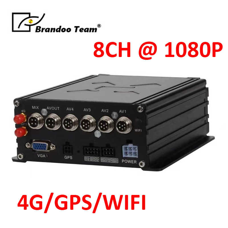 Truck/Bus Mobiele Auto Dvr Ahd 1080P Hdd Gps 4G Wifi 8ch Mdvr H.265 Vrachtwagen Camera Recorder