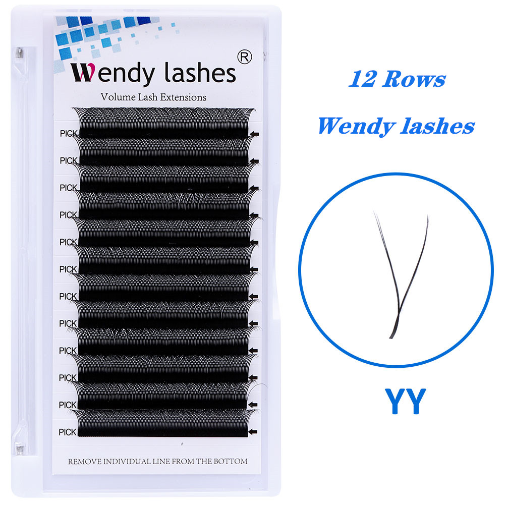 YY Style Eyelash Extensions Faux Mink Double Tip Eyelashes 2D Premade Volume Fans Supplies Individual Makeup Grafting YY Lashes