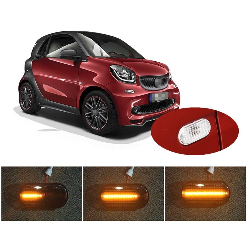 Dynamische Led-anzeige Seite Marker Signal fit für <font><b>Smart</b></font> Fortwo Coupe Cabriolet <font><b>453</b></font> Auto Styling Zubehör image