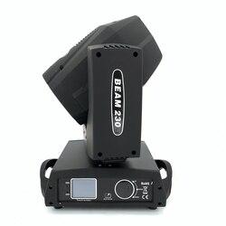 Sharpy haz en forma de Lira 230W 7R luz con cabezal móvil haz de luz para pantalla táctil luces disco escenario 230W con una caja de vuelo DJ bar light