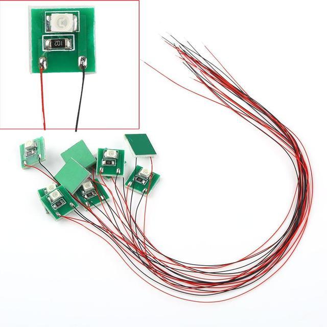 DD00W 10pcs Pre Wired Bright White SMD 3528 Led Lamp Light Set 12V ~ 18V NEW 4