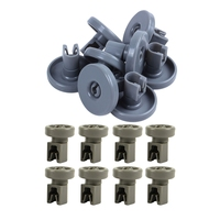 16Pcs Oberen Korb Rollen für Spülmaschine  für Aeg Favorit  Privileg  Zanussi  etc 8 Pcs 40Mm & 8Pcs 25Mm| |   -