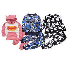 купить Autumn Children Clothing Sets Boys Velvet Warm Camouflage Clothes Set Baby boys Long Sleeve Zip Coat And Pants Outfit Kids Suit дешево