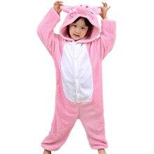 Детская Рождественская Пижама унисекс с животными для костюмированной вечеринки детские фланелевые пижамы со Свинкой, 1 предмет, M09