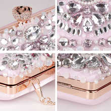 Luxy Moon Women Clutch Rhinestone Evening Bags diamond Pearls Beaded Clutch Purses and Handbags Wallet Wedding Party Bag ZD848