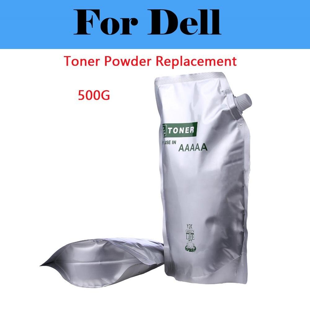 500G Black Toner Powder Laser Printers For Dell C1760nw C3760dn C5765dn E310dw E514dw E515dw