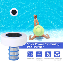 Solar Pool Purifier Floating Water Cleaner Chlorine Free Solar Swimming Pool  W Hot Tub Spa Pool-Ionizer Silver Ion