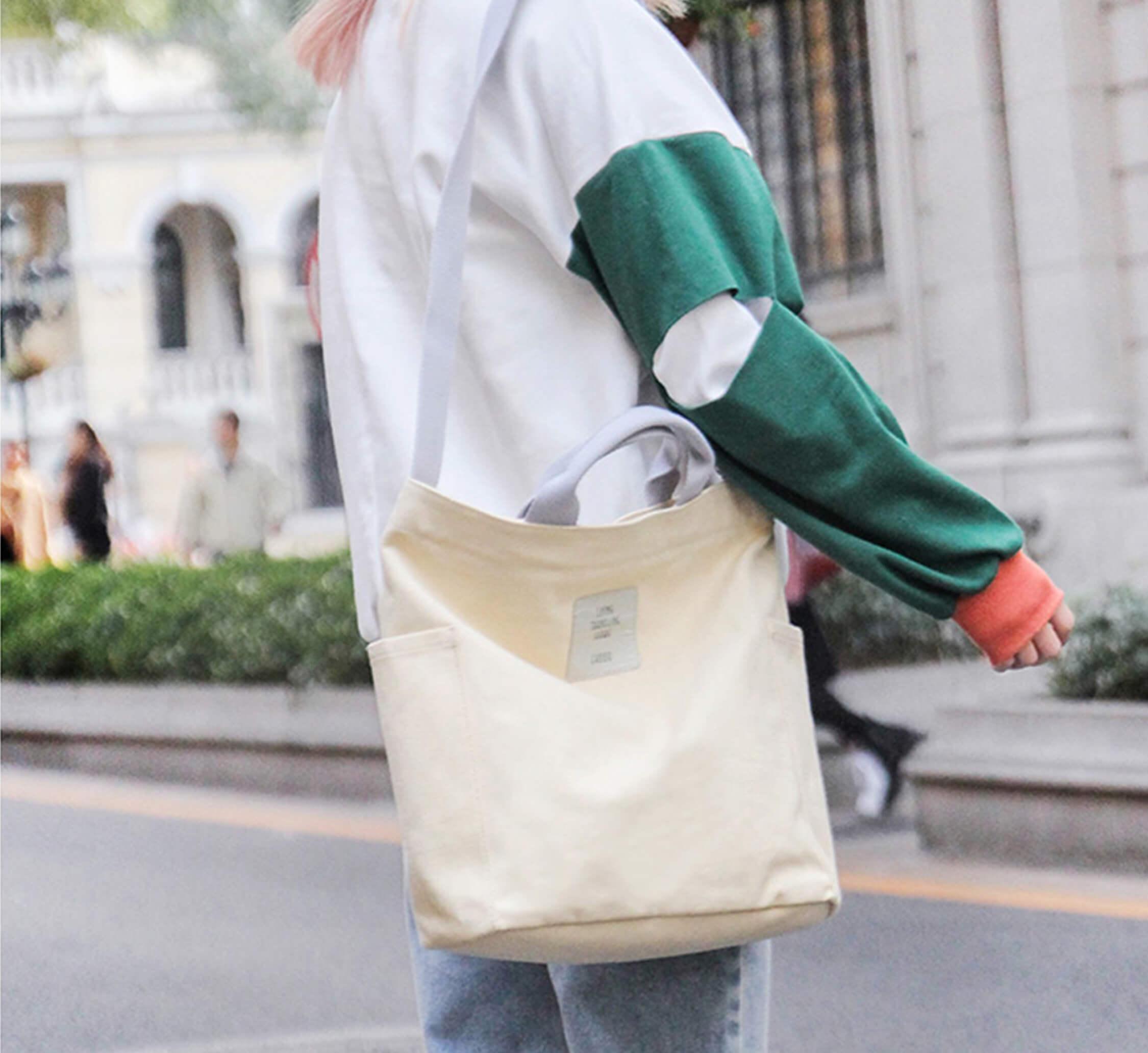 saco lona eco reutilizável dobrável bolsas femininas