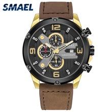2020 Luxury Brand Watch Quartz Movement Clock Leather Auto Date Chronog