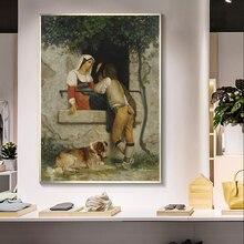 Картина на холсте для итальянских влюбленных william adolphe