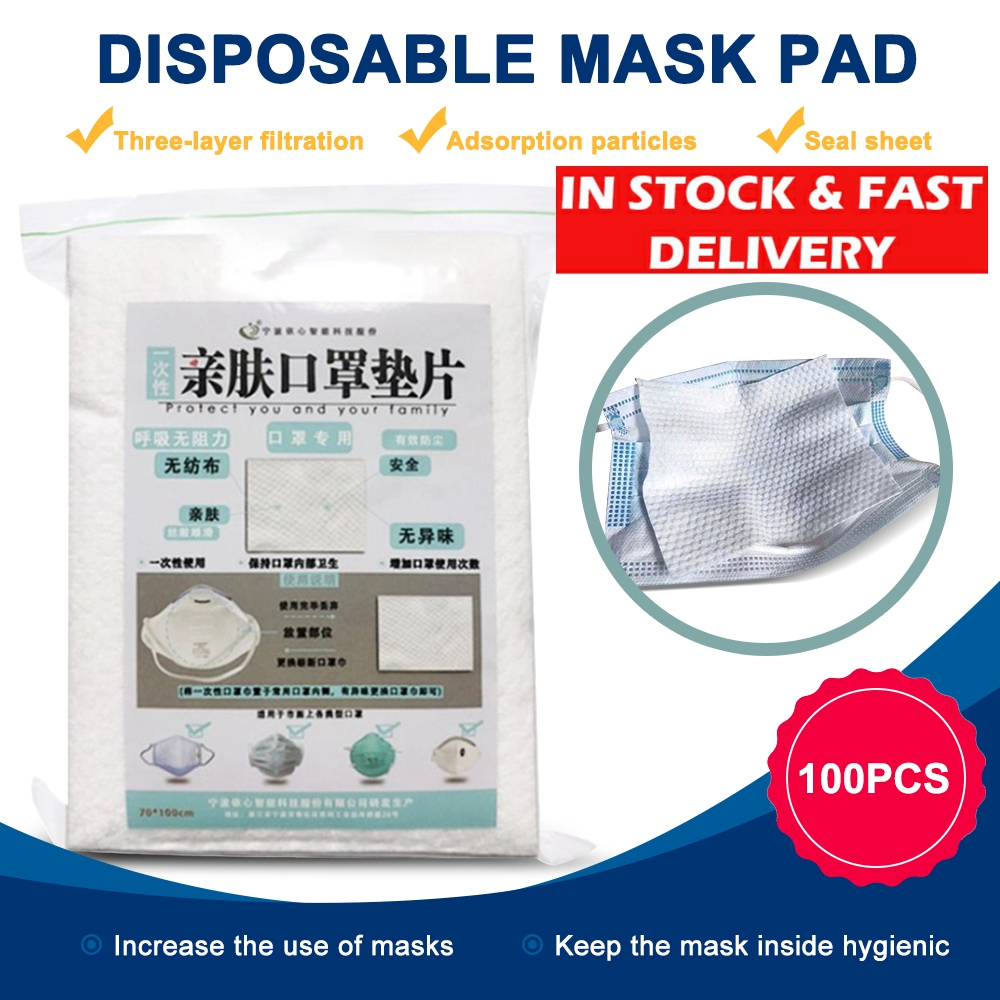 KN95 Face Mask 100pcs Respirator Filter Pad Disposable Antivirus Prevention For KN95 All Face Masks