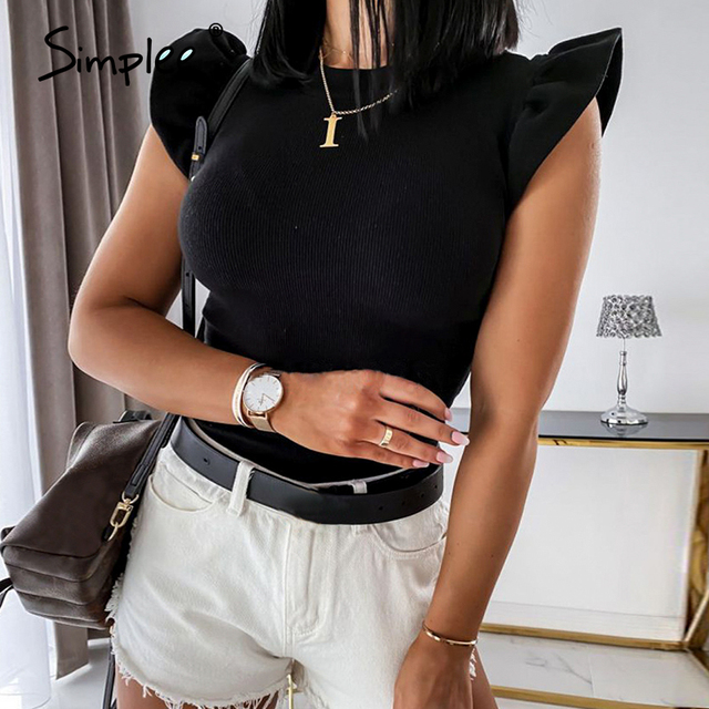 Simplee Casual Solid Top  4