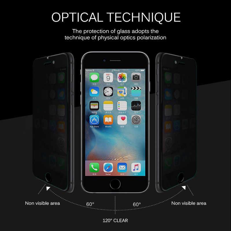 Anti Spy กระจกนิรภัยสำหรับ iPhone 7 6 6S 8 PLUS X XS XR ป้องกันหน้าจอความเป็นส่วนตัวสำหรับ iPhone 6 7 8 XS MAX ป้องกัน
