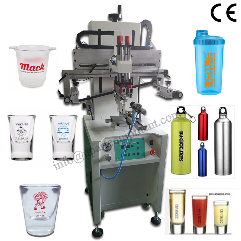 One Color Label Pneumatic Cosmetic Bottle Silk Screen Printing Machine