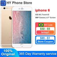 """Apple iPhone 6 16GB ROM Unlocked Smartphone iOS A8 Touch ID 8.0MP Camera 4.7"""" Screen 4G LTE iphones 6 Cell phone 1"""