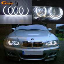 Excellent Ultra bright CCFL Angel Eyes Halo Rings kit Day Light For BMW E46 Coupe Convertible