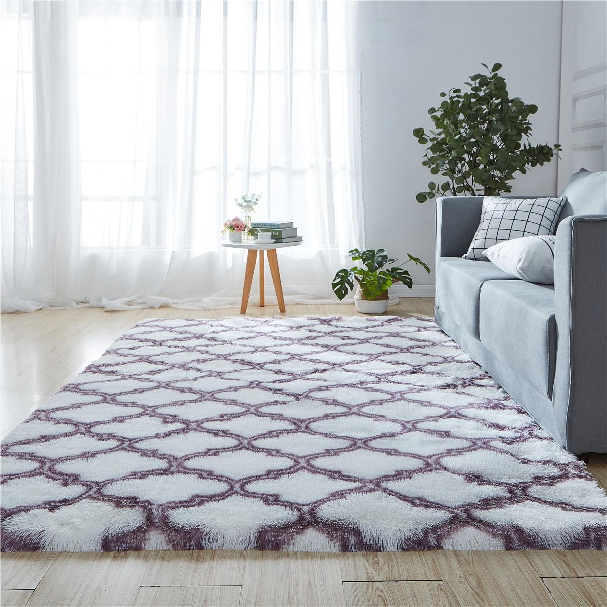 Tie Dyeing Carpets For Living Room Home Soft Fluffy Rug Modern Shaggy Bedroom Carpet Sofa Coffee Table Plush Rug Kids Floor Mat