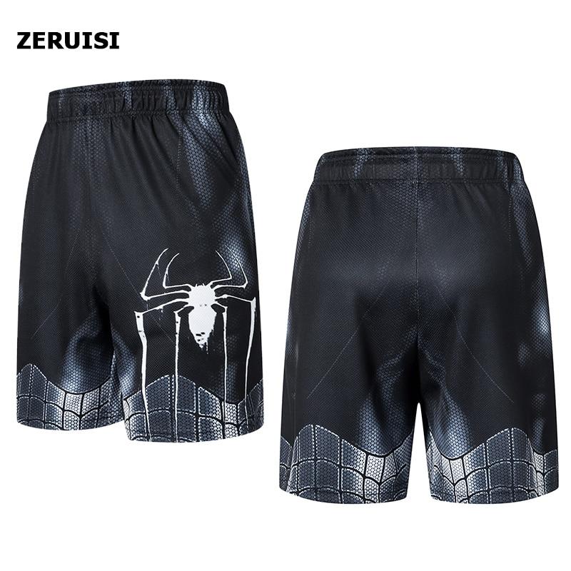 New Fashion Marvel Men Sporting Beaching Shorts Trouser Bodybuilding Sweatpants Fitness Superhero Jogger Casual Gym Men Shorts