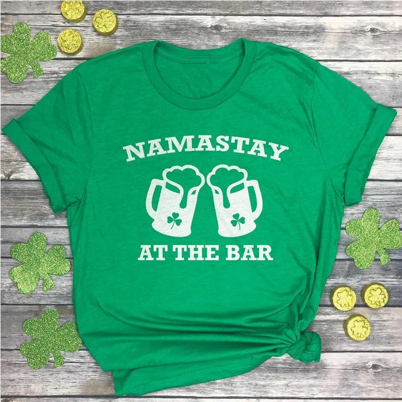 Lucky t-shirt St Patrick/'s Day tee Shamrock tee