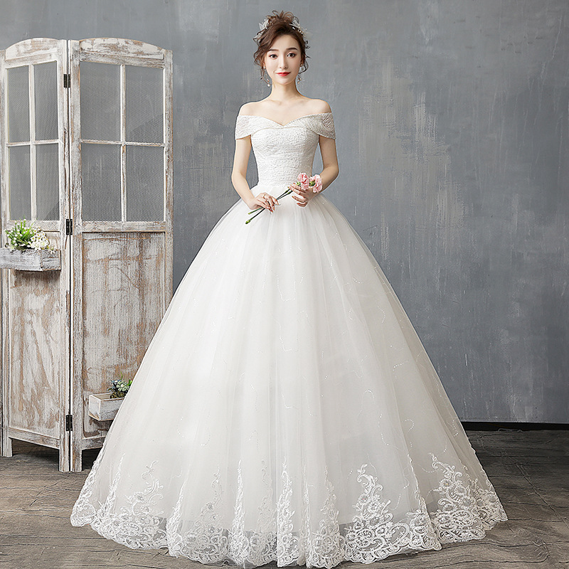 Luxury Bride Wedding Dresses Lace Up Bridal Embroidery Wedding Dress Plus Size Princess Dresses Ball Gowns