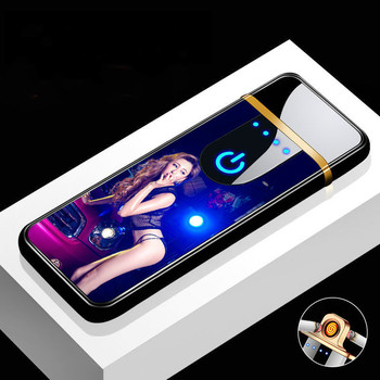 Individuality USB Charging Lighter Windproof Touch Induction Electric Heating Wire Cigarette