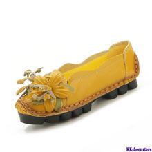 Płaskie buty ze skóry naturalnej kobiet buty ze sprężynami kwiat wkładane mokasyny leniwe buty kobiece mieszkania New Arrival mama mokasyny tanie tanio minika CN (pochodzenie) Prawdziwej skóry Skóra bydlęca RUBBER Slip-on Pasuje prawda na wymiar weź swój normalny rozmiar
