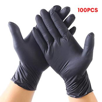 100 sztuk jednorazowe rękawice lateksowe gumowe medyczne gospodarstwa domowego kuchnia rękawice do mycia naczyń praca ogród uniwersalny dla lewej i prawej strony tanie i dobre opinie 70g Disposable Gloves C10624 Ultra cienkie latex Czyszczenie Gładka podszewka lateksowe Disposable Gloves Latex Kitchen medical work rubber gloves