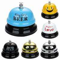 1Pcs New Desk Kitchen Hotel Counter Reception 75x60mm Christmas Craft Cat Bell Restaurant Bar Ringer Call Bell Service Ring