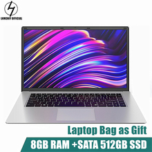 LHMZNIY RX-1 15.6 inch Student Laptop 8GB RAM 256GB512GB SSD Notebook intel J3455 Quad Core Ultrabook With Webcam Bluetooth WiFi