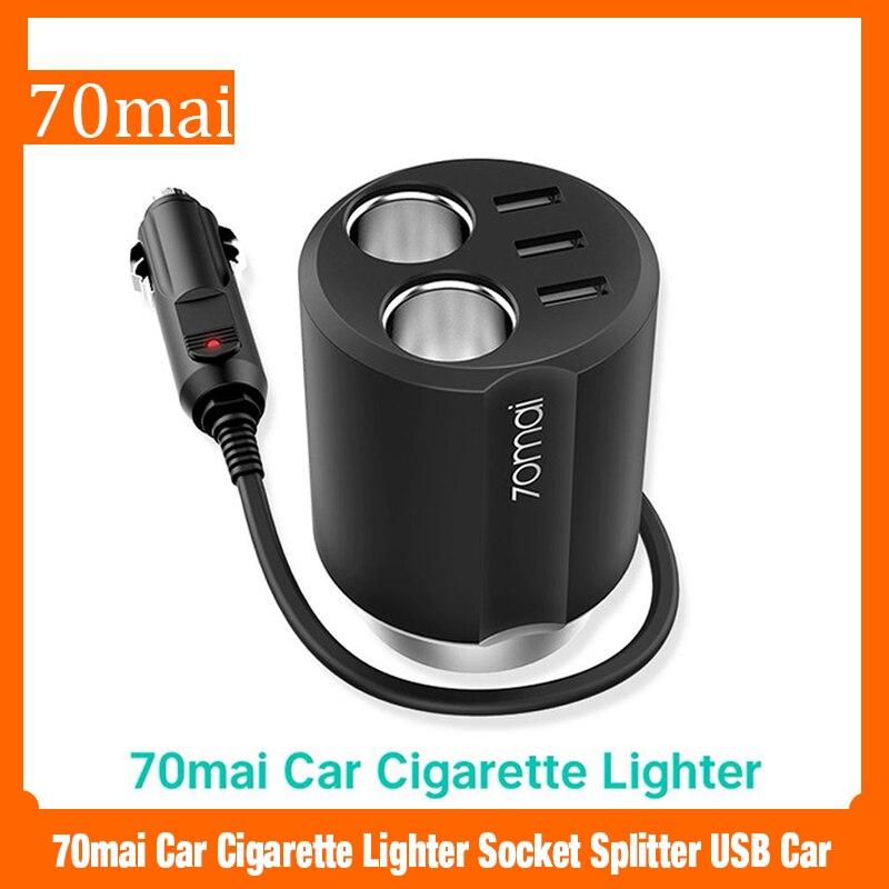 70mai розетка для автомобильного прикуривателя сплиттер USB автомобильный адаптер питания Автомобильное зарядное устройство автомобильный р...