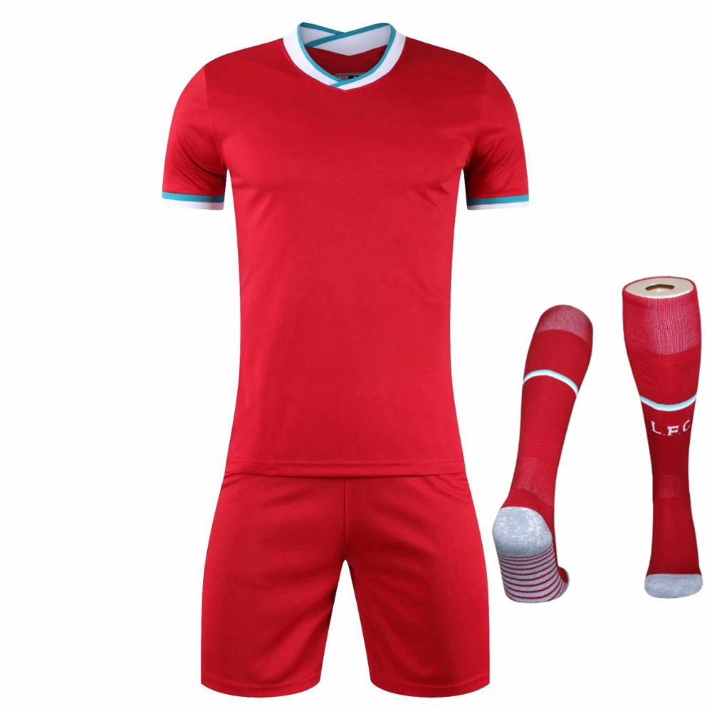 Children Sets football uniforms boys and girls sports kids youth training suits blank custom print soccer set with socks 10