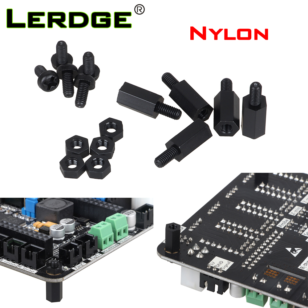 LERDGEX K Motherboard Printing Fixing Parts Nylon Plastic Screw Nut Stud Accessory Package PCB Anti-conducting