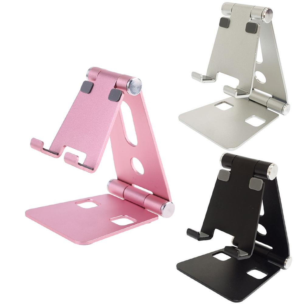 Aluminium Alloy Dual Foldable Desktop Rotary Tablet Stand Mobile Phone Holder Mount Bracket For IPhone For IPad For Samsung Xiao