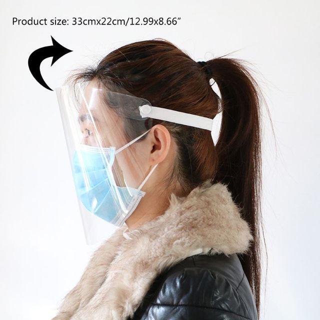 Transparent Anti-saliva Dust-proof Protect Full Face Covering Mask Visor Shield 11UB