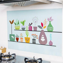 Kitchen wallpaper waterproof fire-proof Oil pollution prevention High temperature resistant wall paper self adhesive