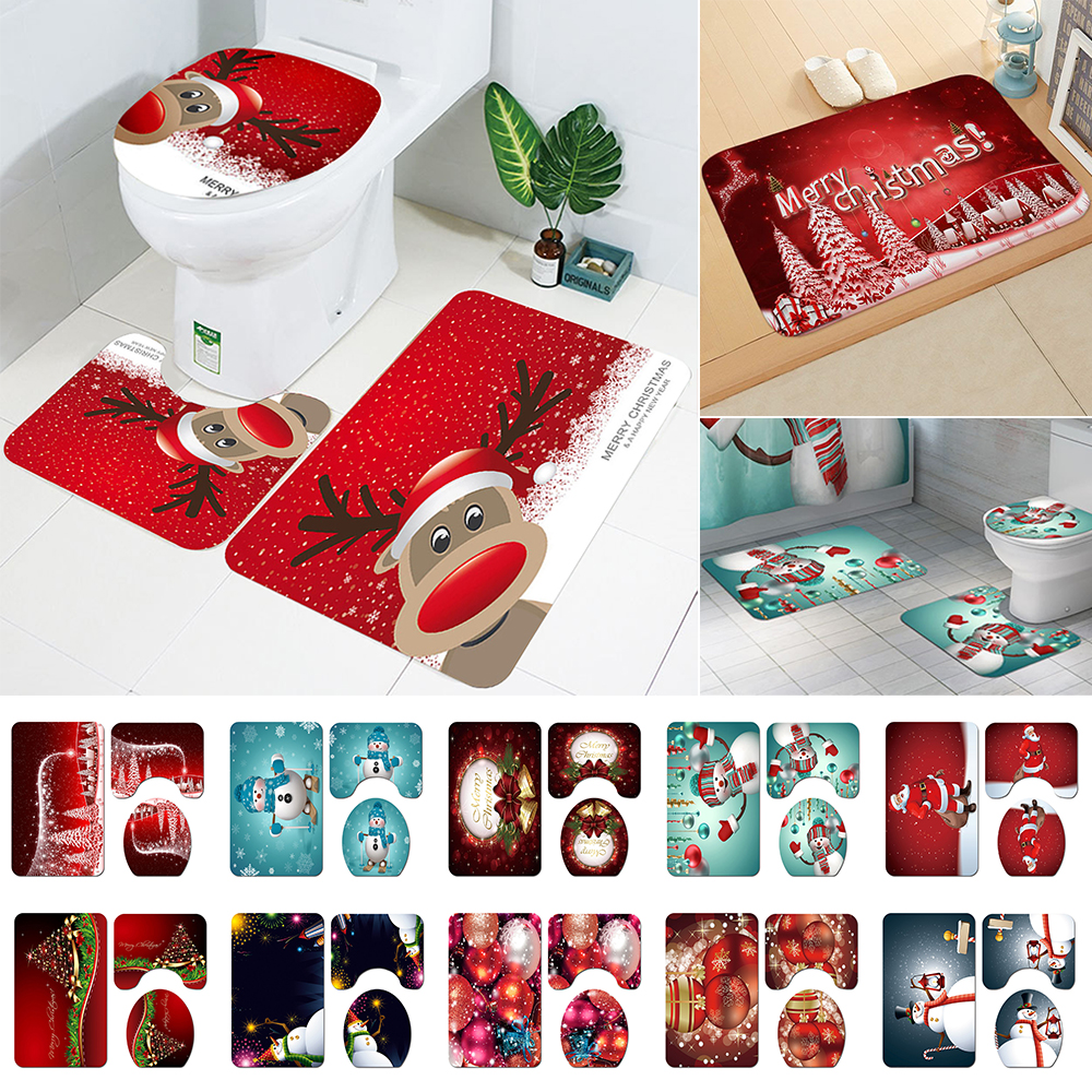 cheap christmas bathroom rugs