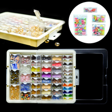 AZQSD Drill Containers for Diamond Painting Mosaic Tool Accessories Plaid Jewelry Diamond Embroidery Transparent Storage Box