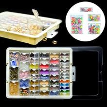 AZQSD contenedores para pintura de diamantes mosaico, accesorios, joyería a cuadros, bordado de diamantes, Caja de almacenamiento transparente