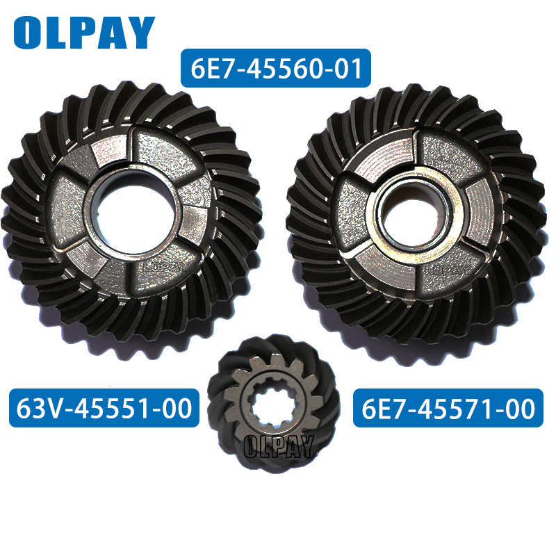 Gear Set For Yamaha 9.9F 2 Stroke 9.9HP Outboard Motor 6E7-45560-01  63V-45551-00  6E7-45571-00