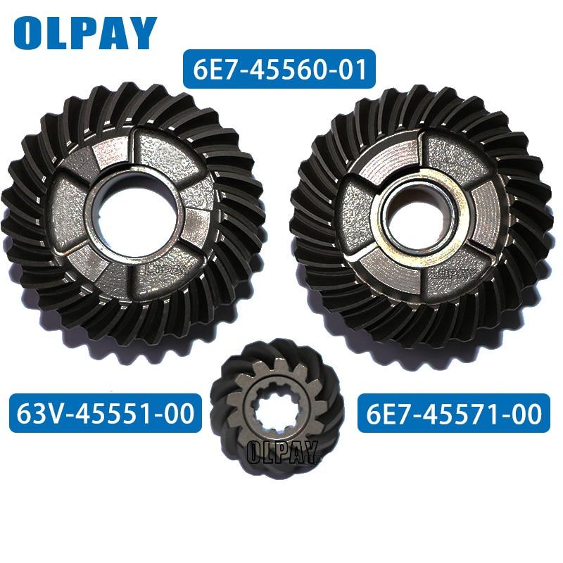 Gear Set For Yamaha 9.9F 2 Stroke 9.9HP Outboard Motor 6E7-45560-01  63V-45551-00  6E7-45571-00
