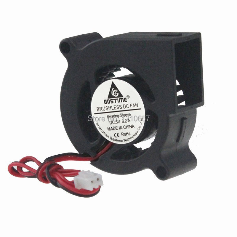 50Pcs/Lot Gdstime Blower <font><b>Fan</b></font> 5020 <font><b>5V</b></font> 2 Pin Small DC Centrifugal Turbo Cooling Cooler 50mm x <font><b>20mm</b></font> 5cm image