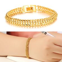 Bracelets & Bangles 2016 New Design Women Wedding Bracelet Luxury Gold Plate Women Bracelet Fashion Jewelry(China)